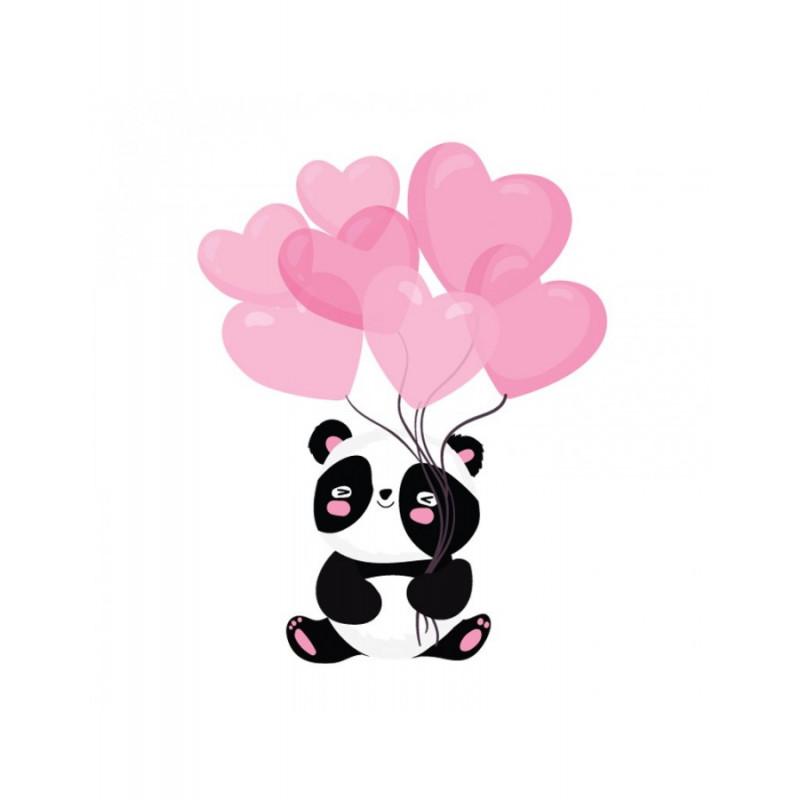 Κούπα Panda Με Μπαλόνια Καρδιές