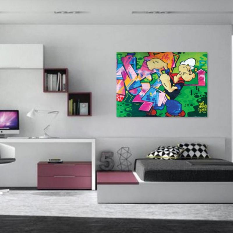 Πίνακας σε καμβά graffiti Popeye
