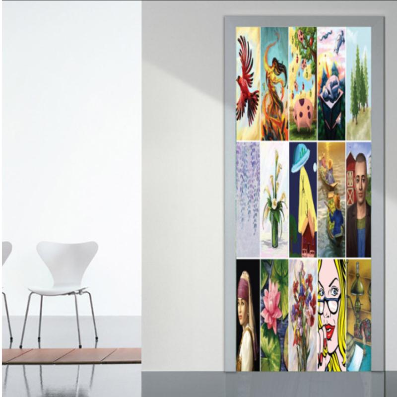 Αυτοκόλλητο πόρτας με Ζωγραφική με Εικόνες