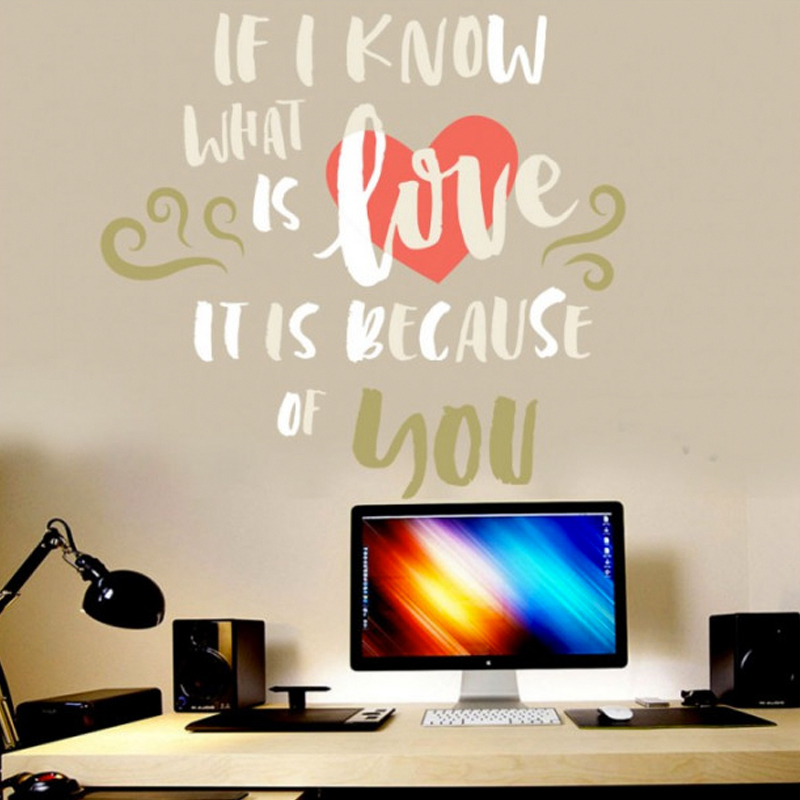 Αυτοκόλλητο τοίχου με Φράσεις what is love