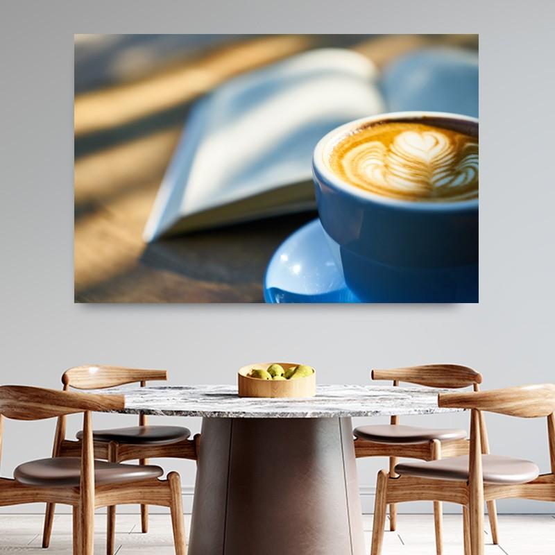 Πίνακας σε καμβά  Coffee book