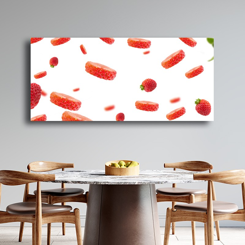 Πίνακας σε καμβά  Μοτιβο με φράουλες 2