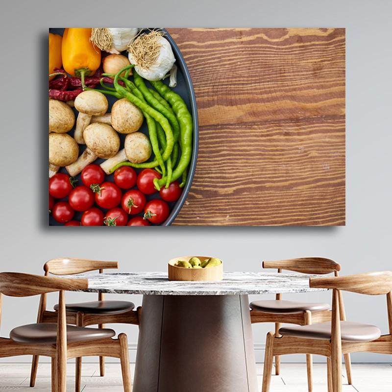 Πίνακας σε καμβά  Μπολ με λαχανικά 1