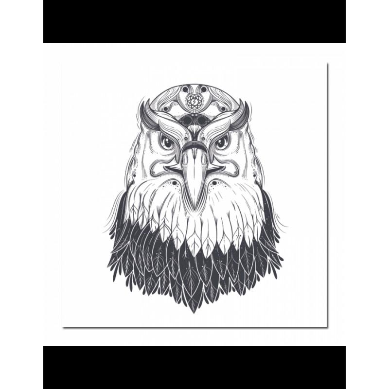 Πίνακας σε καμβά με Ασπρόμαυρο Αετό