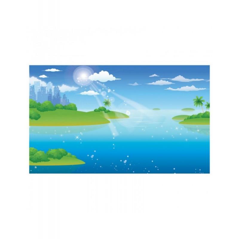 Ταπετσαρία με Τοπίο Ζωγραφιά με νησιά